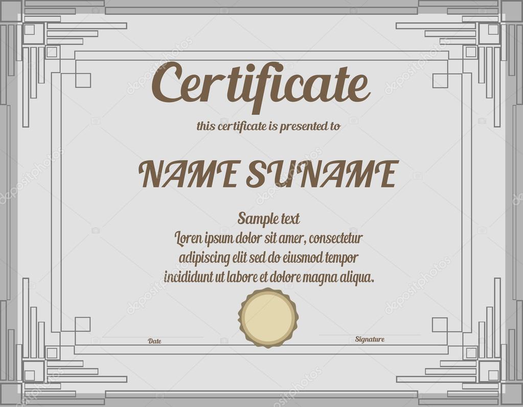 Zertifikat — Stockvektor © Lyusha #79401410