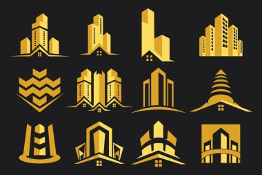 Stylish and modern logo.It used in business areas such as construction and real estate. clip art vector