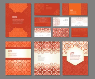 Banners and visit cards templates