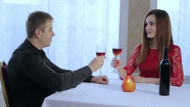 fiújára és romantikus vacsora