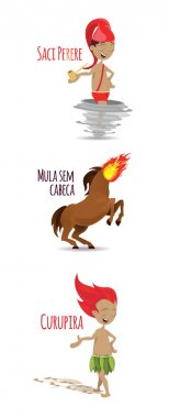 cartoon characters of Brazilian legends