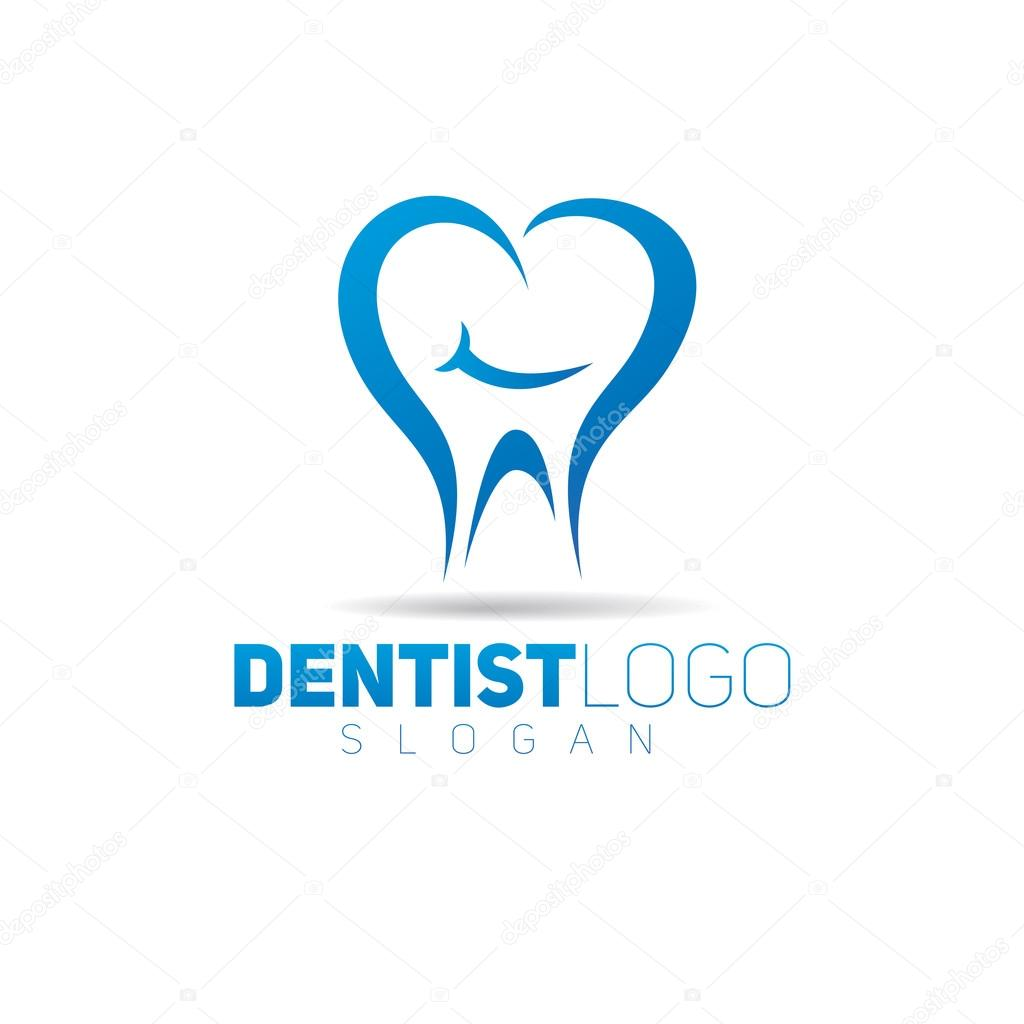 Plantilla de logotipo de icono de diente — Archivo Imágenes ...