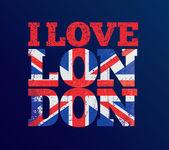Fotografie T-shirt-Design, dass ich liebe London