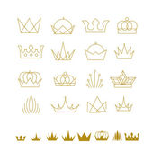 Fotografie Abstract set of crowns