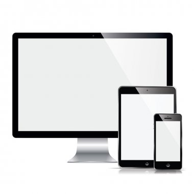 Modern monitor, computer, phone, tablet