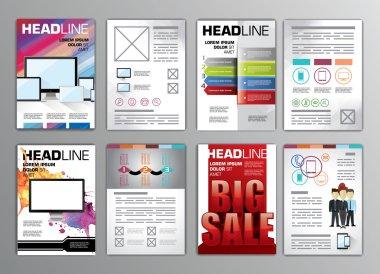 Set of flyers templates