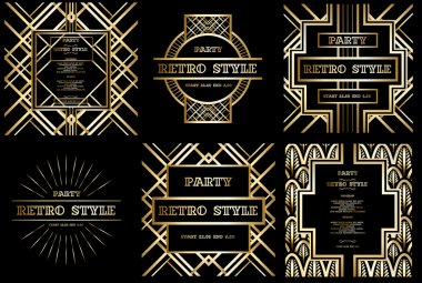 Retro pattern for vintage party set