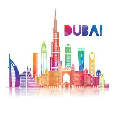 City of Dubai the symbols of the city