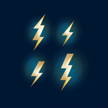 Set of abstract lightning