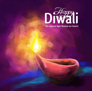 Vector illustration on the theme of the traditional celebration of happy diwali stock vector