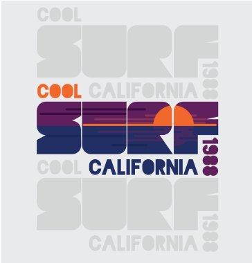 California surfing design