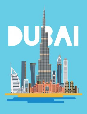 City of Dubai the symbols