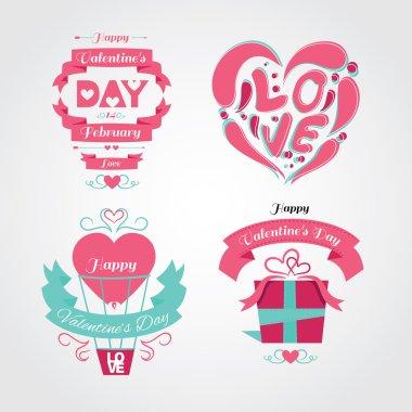 Set  Valentine's Day, design elements