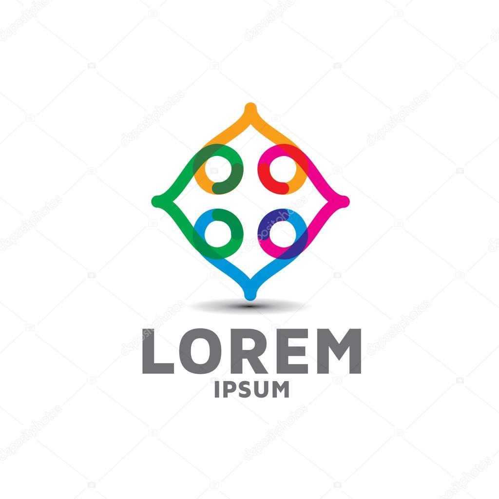 Exemple Logo exemple d'étiquette logo abstrait — image vectorielle artemon91