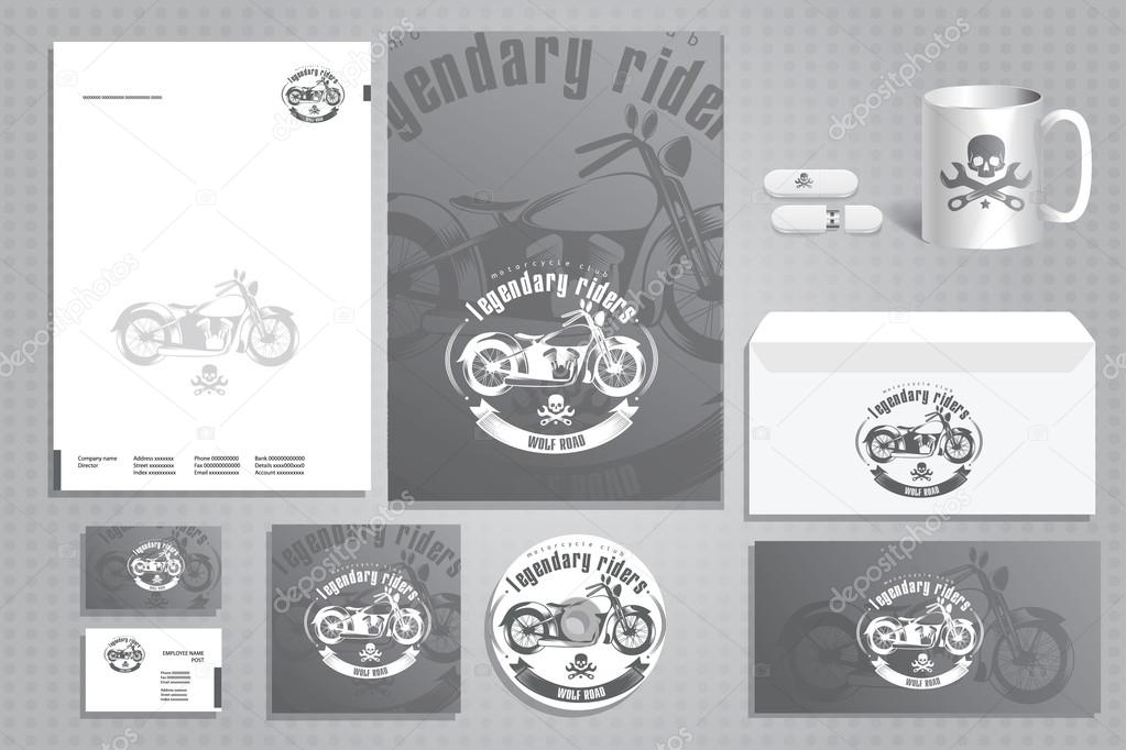Design-Elemente für Motorradclub — Stockvektor © artemon91 #66518295