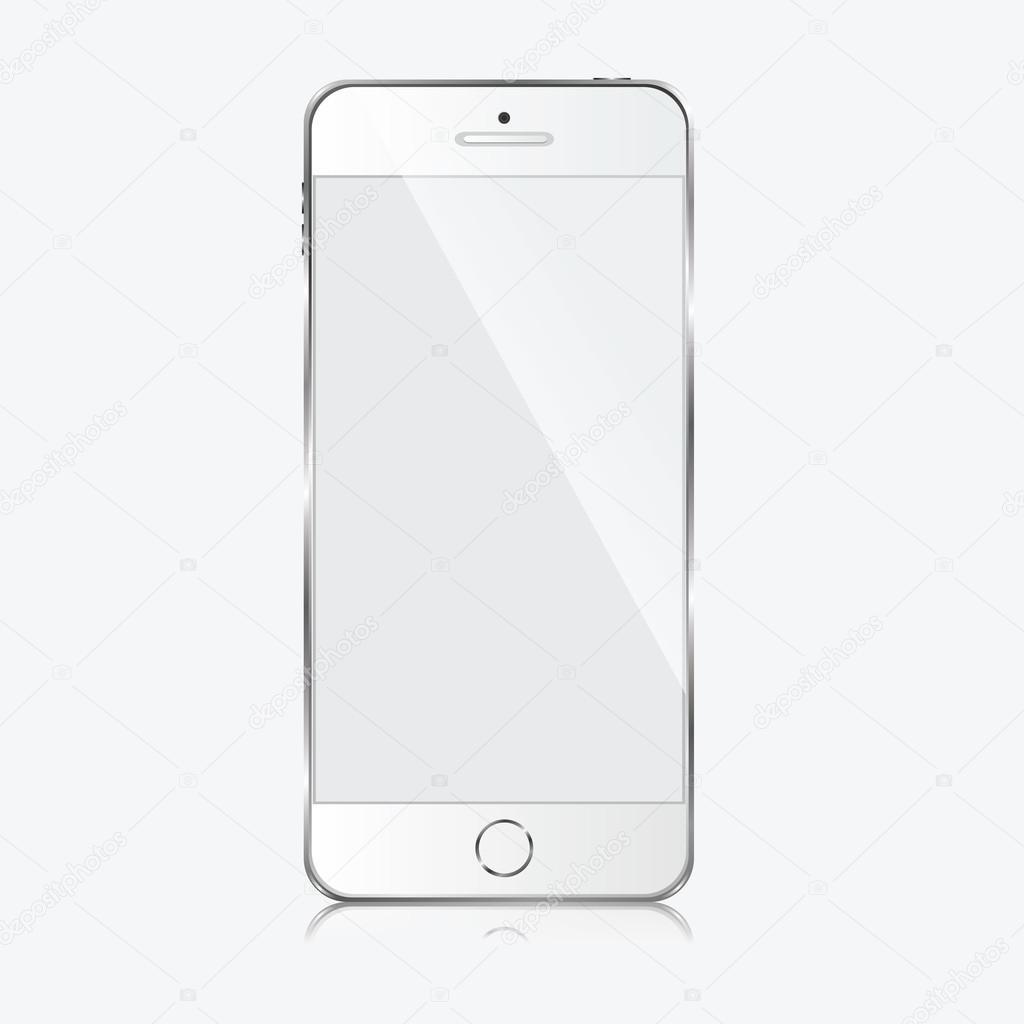 Moderno Telefono Cellulare Su Sfondo Bianco Vettoriali Stock