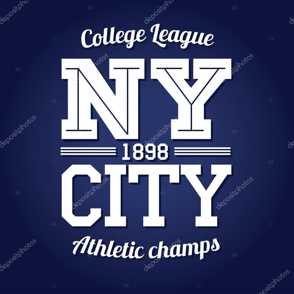 Shirt design nyc - New York Team League T Shirt Design Stock Vector 66519091