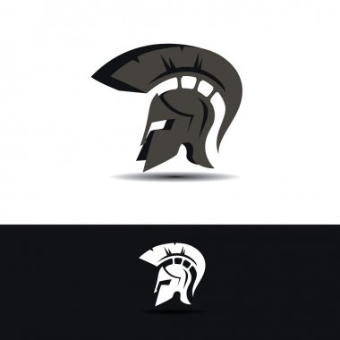 Abstract greek helmet icon