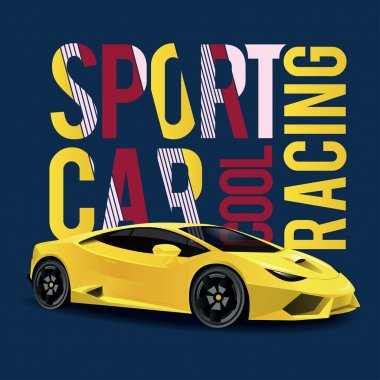 Sports car race design t-shirts