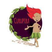 Fotografie Brazilský kreslená postava Curupira