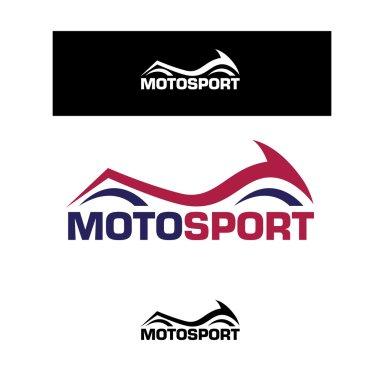 Moto sport, motorcycle logo set