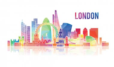 London city travel design template