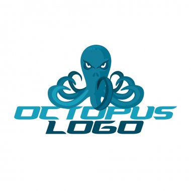 logo template with octopus