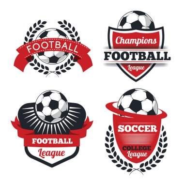 Set of Badges, logos for football