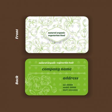 Gift cards with vegetarian food