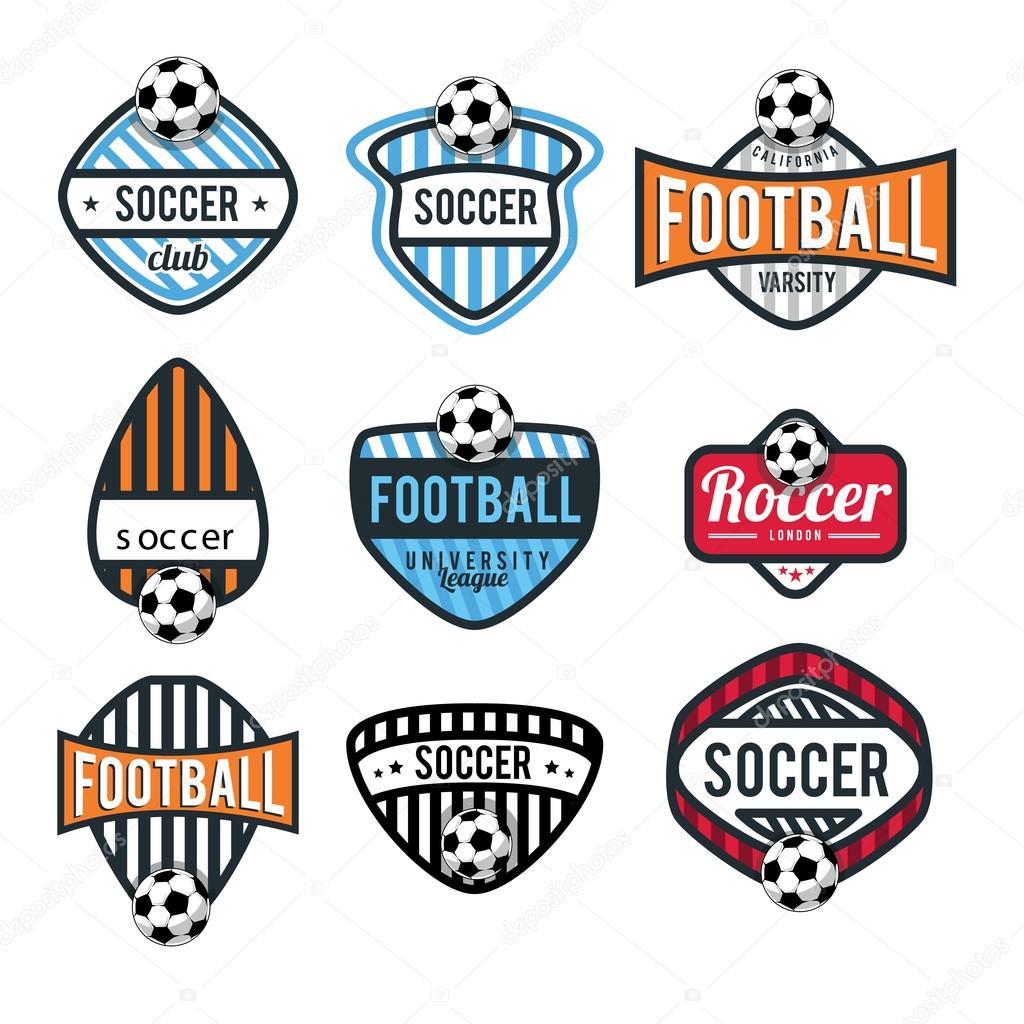 Soccer, Football Club Logo Set U2014 Stock Vector