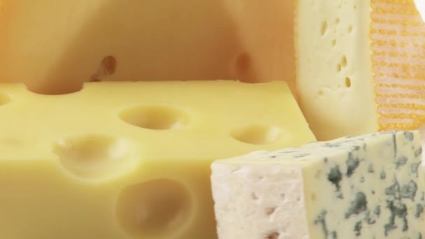 Different cheeses close up