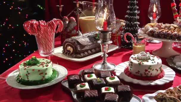 Buffet Di Dolci Di Natale : Buffet di dolci di natale u video stock stockfoodgmbh