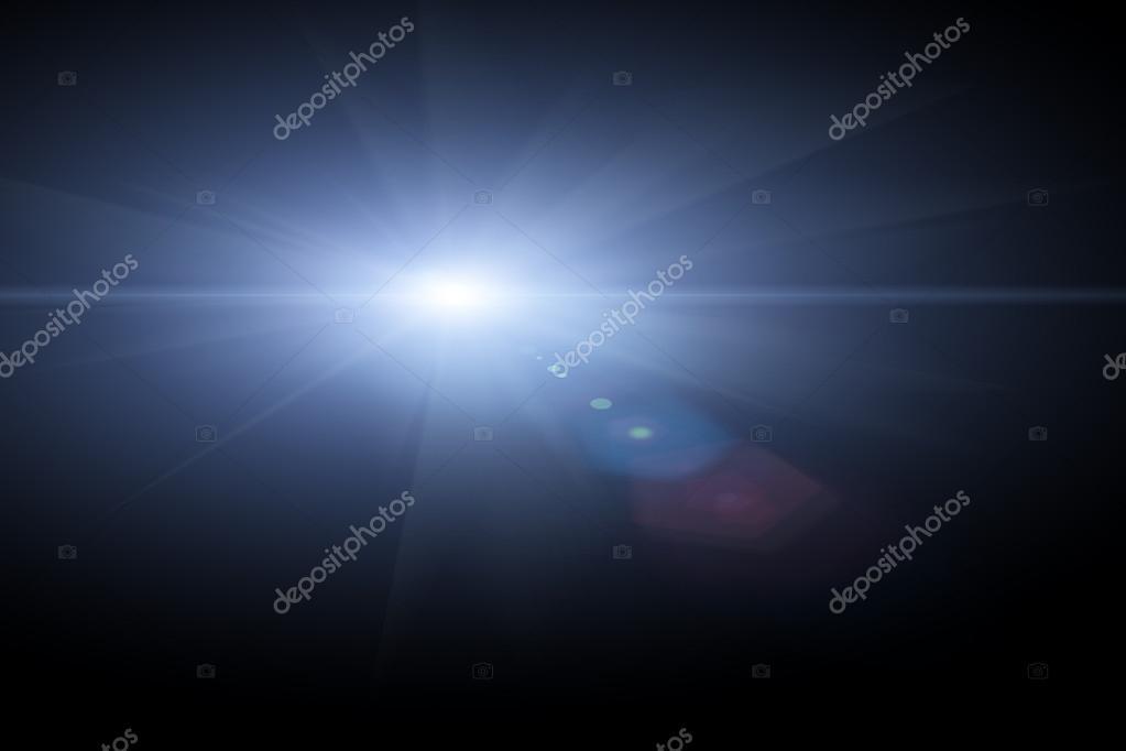 star, sun with lens flare.