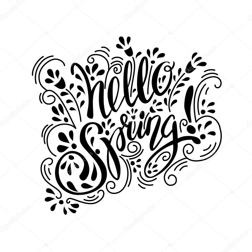 Primavera lettering elementi di design vettoriali stock for Elementi di design