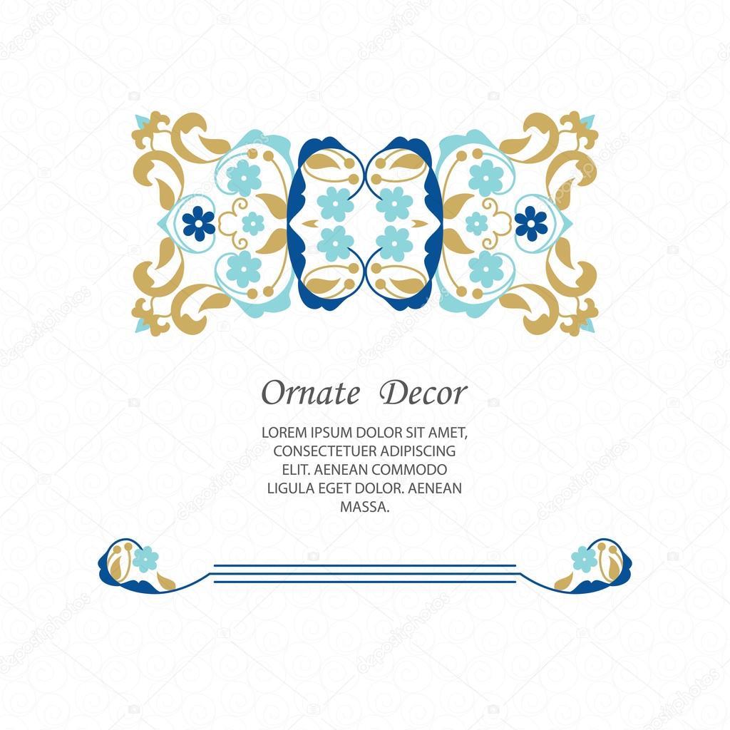 Elegante Element Entwurfsvorlage — Stockvektor © sacredolga #105894422