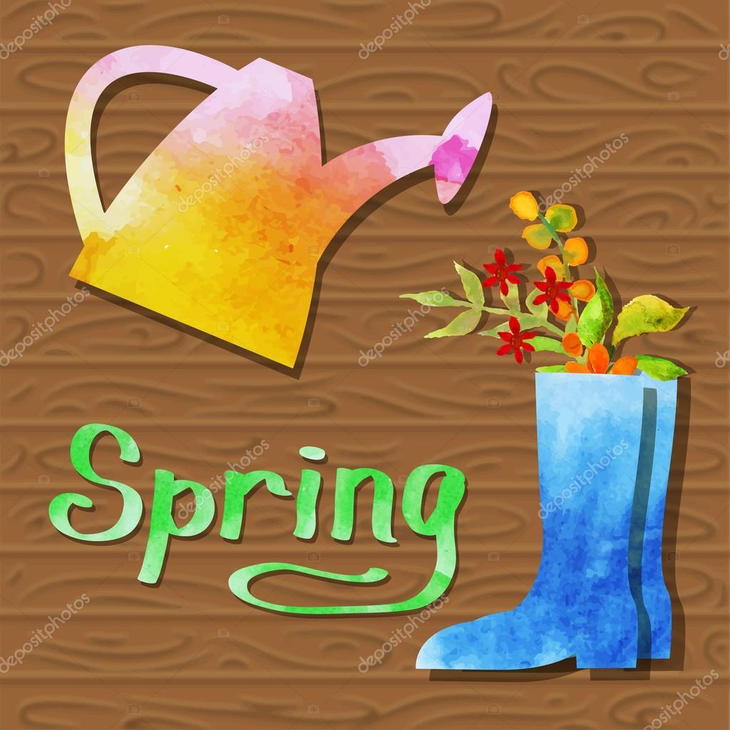 Spring watercolor design