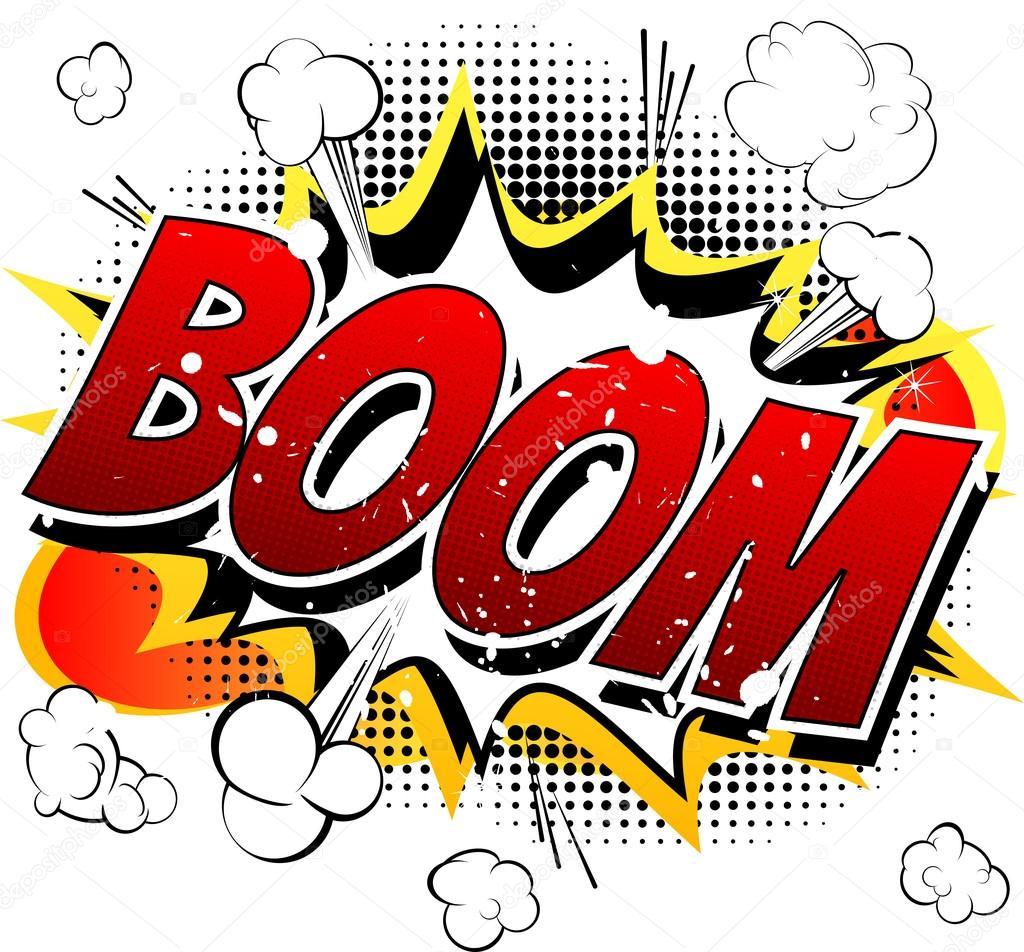 Boom - Comic book, cartoon explosion. — Stock Vector ...