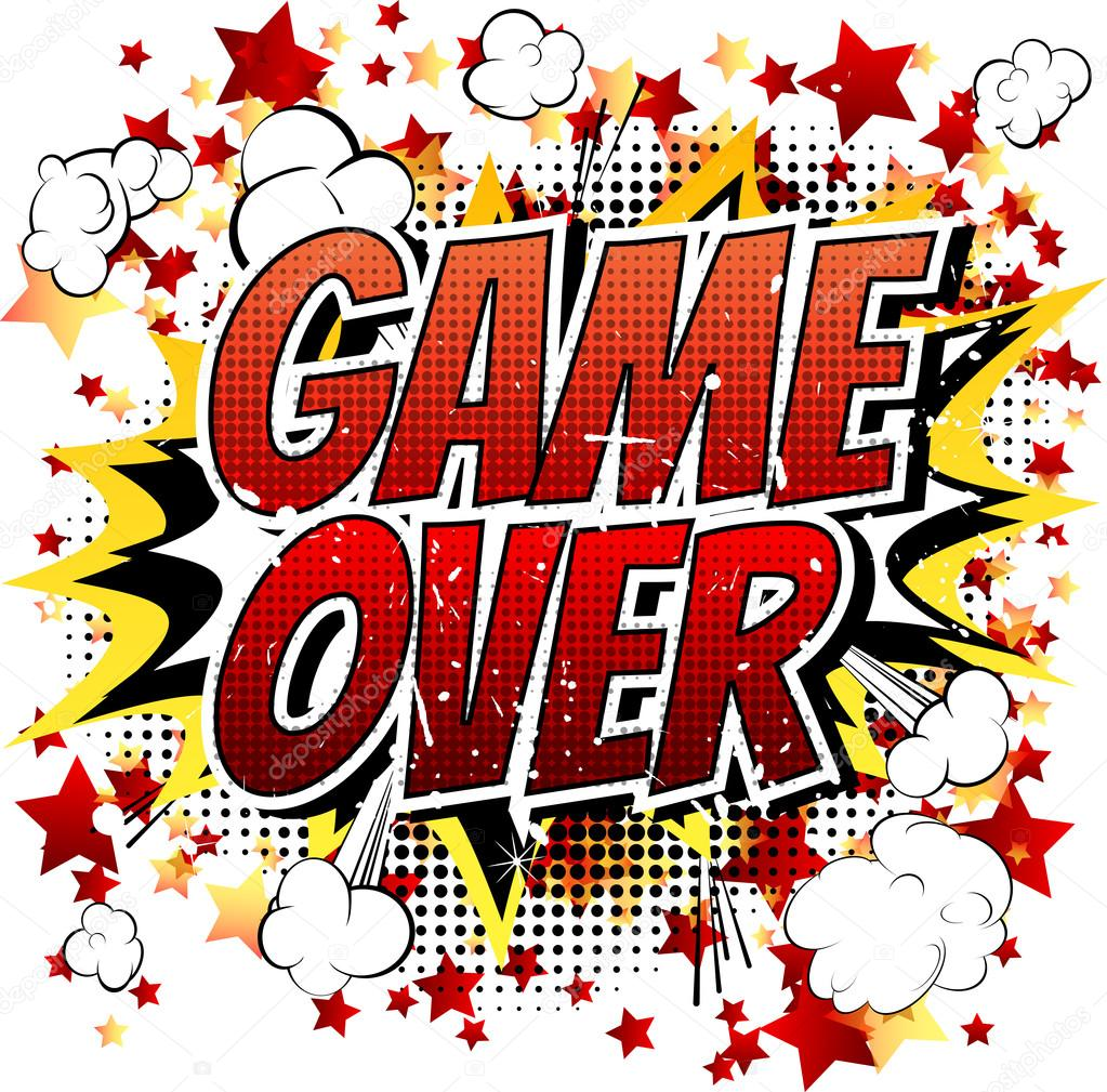 Game Over Comic Book Expression De Bande Dessinee