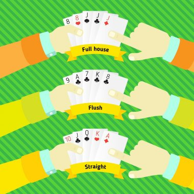 combination of poker, in the hands of man