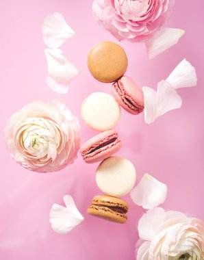 Beautiful Sweet and colourful french macaroons.