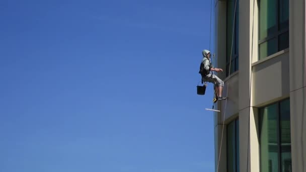 The window cleaner at an office building 03. Moscow, Russia