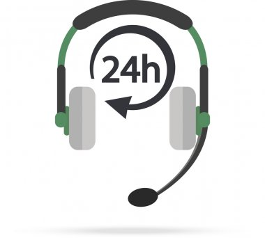 Service Call center for customers available online around the clock or 24 hours a day