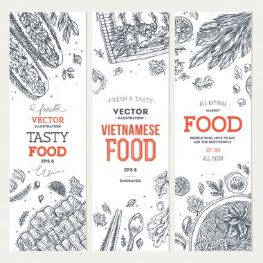 Vietnamese food banner collection
