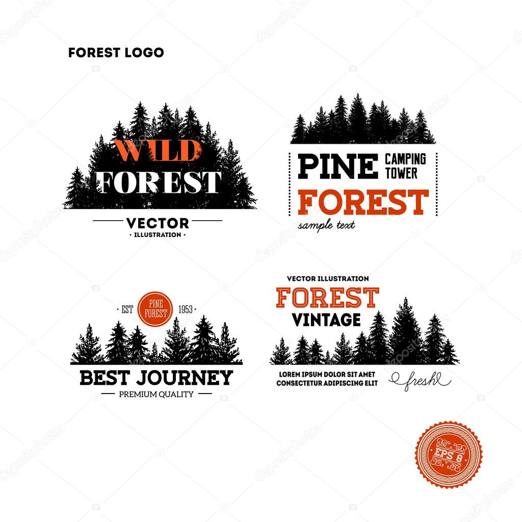 hipster forest logo collection stock vector adehoidar 109243600