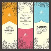 Fotografie Bread vertical vintage banners.