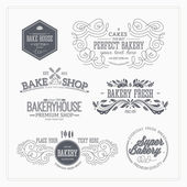 Fotografie Set of bakery and bread logotypes.