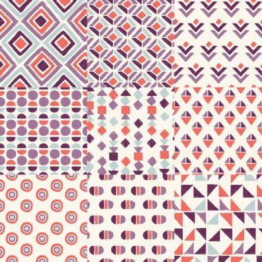 Retro handrawn geometric patterns