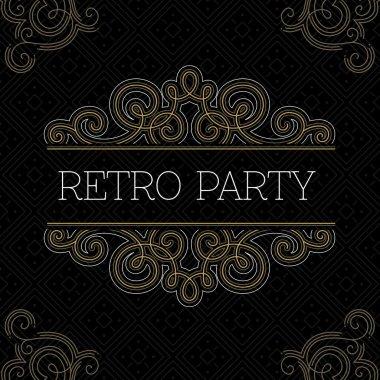 Retro party invitation.