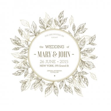 Classic Floral Wedding Invitation.