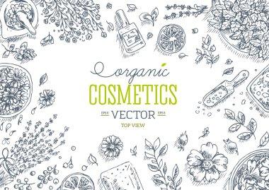 Organic Cosmetics frame.